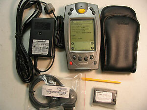SYMBOL PALM SPT1800 BARCODE TRG80411 *16MB RAM* COMPLETE KIT W/ CABLES & CHARGER