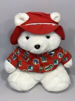 Dayton Hudson Santa Teddy Bear 1993 World Traveler Passport Red Shirt Christmas