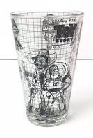 Toy Story Disney Pixar Sketchbook Glass Jessie Buzz Woody Slinky NEW 16oz Cup