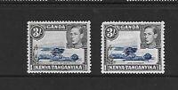 KUT 1938 KGVI 3/- P13 x 11.75 both shades MM SG147 & 147a Cat £125