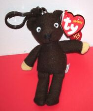 Ty Beanie Baby ~ MR BEAN'S TEDDY BEAR (4-5 Inch) Key Clip (UK Exclusive) NEW
