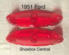 1951 Ford Shoebox Tail Light Lamp Lenses New Pair