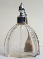 Flacon vaporisateur de parfum Cologna MARCEL FRANCK en verre ART DECO vers 1930