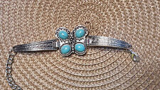"""Butterfly style claw hook bracelet band adjustable to 7.5 """"  Very detailed band"""