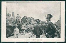 Roma Città Ponte Salario Disastro Ferroviario Treno Militari cartolina QT2154