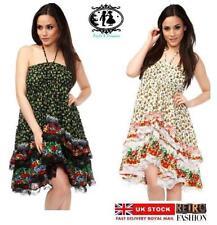 Cotton Halterneck Casual Skater Dresses for Women