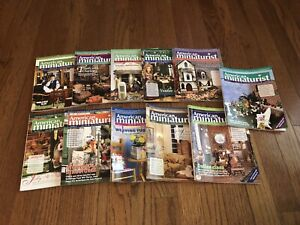 American Miniaturist Magazine Lot (11) Issues From 2011