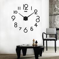 DIY 3D Wall Clock Mirror Large Art Design Living Room Bedroom Decoration Clock