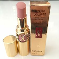 New Yves Saint Laurent YSL #2 Sensual Sensual Silk Rouge Volupte Lipstick