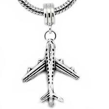 Airplane Charm Dangle Bead Spacer For Snake Chain Charm Bracelet