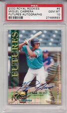 Future HOF Miguel Cabrera 2000 Royal Rookies /4950 ROOKIE AUTO PSA 10 GEM MINT!