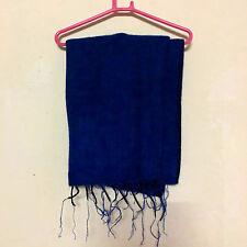 Blue Yak Wool Shawl Scarf Wrap Tibetan Nepalese Handmade Nepal YS01