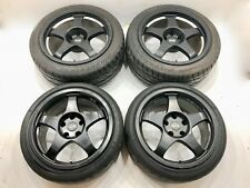 GENUINE OZ RACING NISSAN NSX 17 18 STAGGERED ALLOY WHEELS TYRES BBS RAYS TRACK