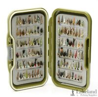 Waterproof Fly Box + Assorted Mixed Gold Head Nymph Trout Flies for Fly Fishing