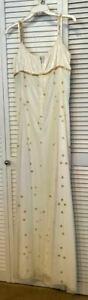 Watters & Watters, Women's Dresses, Velvet Ivory, Chiffon, Gold Flowers, Size 12