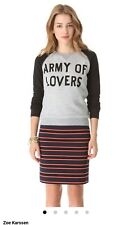 ZOE KARSSEN ARMY OF LOVERS GRAY BLACK NWT SWEATSHIRT SIZE XSMALL SOLD OUT $125