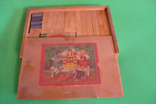 WORLD WAR WW II toy hardwood box of childs building blocks from  Montgomery Ward