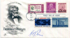 AUTHENTIC legendary Civil Rights activist Roy Innis signed FDC