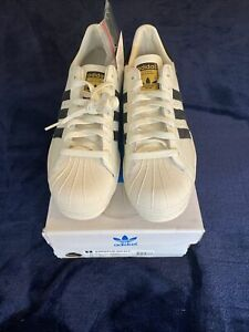 Adidas Superstar 80s Vintage Deluxe White - B25963 - Size 10 us