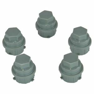 Dorman Grey Lug Nut Covers M24-2.0 Hex 19mm Set 5 for Chevy Buick Pontiac Saturn