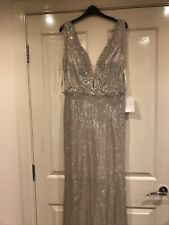 new long wedding evening formal dress party ball Size 12 14 New Rose Gold