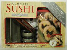 Complete Sushi Gift Set Book & DVD Sushi Dipping Bowls Chopsticks Rolling Mat