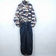ETIREL Vtg Womens Camouflage Festival One Piece Ski Suit Snowsuit SIZE Medium, M