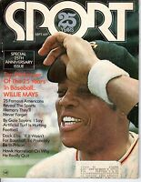 1971 (Sep.) SPORT magazine Baseball Willie Mays San Francisco Giants ~ Label~Gd