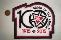 OA PATCH BLACK BRDR CENTENNIAL 100TH ANNIVERSARY 2015 NOAC CHENILLE JACKET FLAP