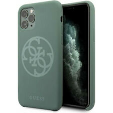 Genuine Guess Circle Silicone Impact Case Cover for iPhone 11 Pro Max in Green