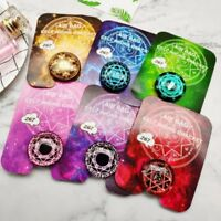 3D Round Glass Pattern Socket Phone Holder Grip & Stand Finger Ring For Phone