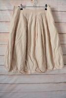 Veronika Maine Skirt Size 10 Medium Beige Cream A Line Skirt