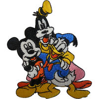 Disney Mickey Mouse Donald Duck Goofy Patch Embroidered Badge Iron Sew On Jeans