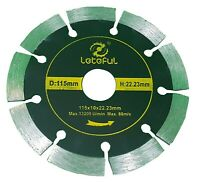 "115MM 4.5"" DIAMOND CUTTING DISC ANGLE GRINDER SAW BLADE STONE BRICK MASONRY TILE"