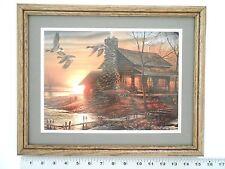 Terry Redlin GOLDEN RETREAT framed 11X14 o