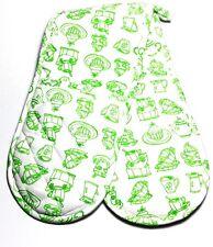 MagicHands, Kitchen, Long,Green Double Oven Glove, Mitt, Pot Holder, 100% Cotton