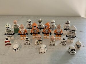 LEGO Star Wars Lot Clone Troopers Mandalorians Minifigures Extra Parts Some Rare