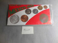 1964 Mexico Six Coin Type Uncirculated Mint Set 10% Silver Un Peso #58
