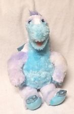 "BUILD-A-BEAR 18"" Plush Stuffed Toy DRAGON Blue & Lavender Metallic Wings Claws"