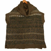Free People Women's Brown Alpaca Wool Blend Cowl Neck Sweater - Size Medium