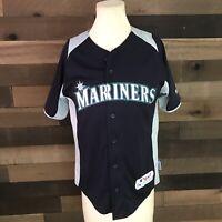 Seattle Mariners ICHIRO SUZUKI mlb Baseball Jersey Majestic YOUTH Sz Large