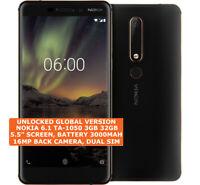 "NOKIA 6.1 TA-1050 3gb 32gb Octa-Core 16mp Fingerprint 5.5"" Android 8 Smartphone"