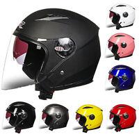 Motorcycle Open Half Face Helmet Motobike 3/4 Scooter Bike Bicycle Helmets