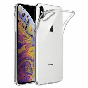 iPhone X/XS Shock Proof Crystal Clear Silicone Gel Bumper Case W/Tempered Glass