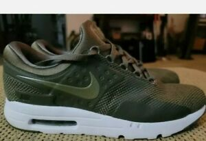Nike Air Max Zero Essential LE Medium Olive White 876070-200 Men's Size 12
