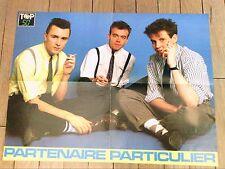 """RARE AFFICHE DE """"PARTENAIRE PARTICULIER"""" ET """"MADONNA"""" / 42 X60 / TOP 50 MAGAZINE"""