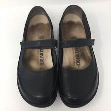 Birkenstock Mary Janes Womens Size 40 Regular Width Black Genuine Leather Iona