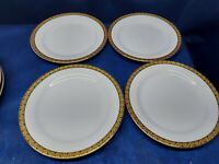 HOME Candlelight Classics Set/4 Luncheon Plates HMQ124 Gold Encrusted Band