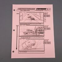 FAST AND FURIOUS 4 - Production Used Storyboard - Dom & Brian Race, Car Flips