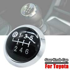 6 Speed Gear Knob Cap Decal Trim Badge Emblem For Toyota Yaris Corolla Rav4 AYGO